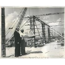 1960 Press Photo Construction O'Hare Mgr Ralph Heinz - RRR22319