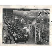 1967 Press Photo Boeing 747 Plane Construction Factory - RRR38643