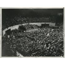 1934 Press Photo Speakers present Civilization Against Hitler in Madison Square