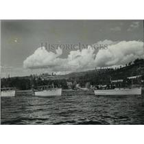1941 Press Photo Boats at Bayview, Idaho - spx10892
