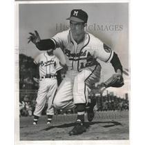 1954 Press Photo Robert (Bob) Buhl-National League Milwaukee Brewers Pitcher