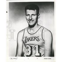 1968 Press Photo Mel Counts, Center for the Los Angeles Lakers from Oregon State