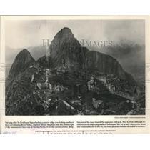 1912 Press Photo The monumental Inca ruin at Machu Picchu - mjx21473