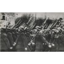 1946 Press Photo Madrid Spanish Infantrymen parade in Madrid- Civil War Victory