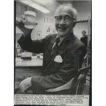 1967 Press Photo Nobel prize for physiology Harvard Prof. George Wald