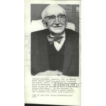 1974 Press Photo Austrian Prof Friedrich von Hayek Nobel Prize for Economics