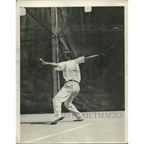 1918 Press Photo Upton Sinclair American Author Playing Tennis