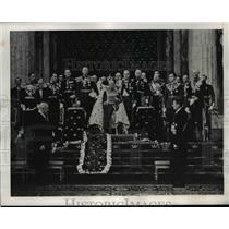 1940 Press Photo King Gustaf at Opening Swedish Parliament, Stockholm