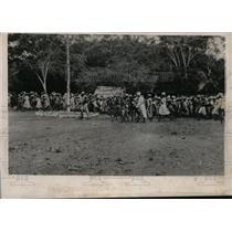 1938 Press Photo Haitians Fleeing from Massacre - nef47642