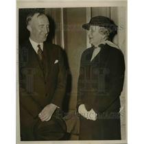 1940 Press Photo Mrs. J. Borden Harriman, Wilhelm Munthe de Morgenstierne