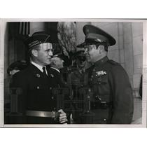 1938 Press Photo Col.Fulgencio Batista of Cuba at Armistice Day Ceremonies