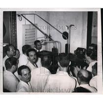 1951 Press Photo Fulgencio Batista Posing for Election Identity Card Havana Cuba