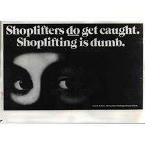 1975 Press Photo A poster campaign similar to the one shown here is being used