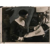 1924 Press Photo Madame Combes hostess for the Elysse under French Presidency