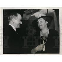 1939 Press Photo Gustav Moller Swedish Minister & Mrs Ruth Larson Wallgren in PA