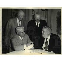 1933 Press Photo Railway Brotherhood Leaders Meeting in Chicago - nef39737