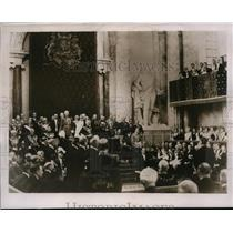 1937 Press Photo King Gustaf Opening Swedish Parliament @ Royal Castle Stockholm