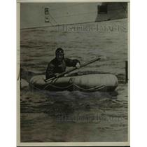 Press Photo Richard Byrd in Lifeboat - nef40757