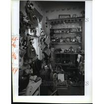 1993 Press Photo Toy cows fill a corner of the Wisconsin Craftsmen Store