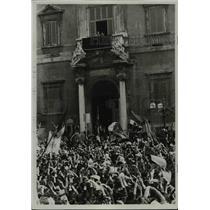 1936 Press Photo King Victor Emmanuel at Piazza del Quirinale, Rome, Italy