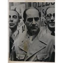 1939 Press Photo Achille Starace, Italian Fascist Leader - nef35634