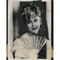 1932 Press Photo Anny Ondra, Czech Actress - nef44260