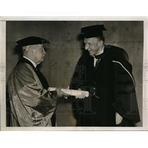 1937 Press Photo Viscount Cecil Receives Law Honor From Dr Nicholas N Butler