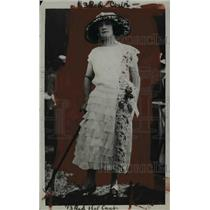 1922 Press Photo Frilled Rose Skirt Frock of Primrose Organdi - nef37950
