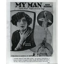 1921 Press Photo Fannie Brice, a famous comedienne - mjx21796