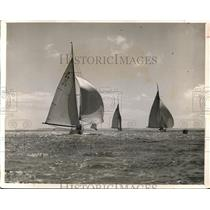 1923 Press Photo The Royal Harwich Yacht Club Regatta Boat Races