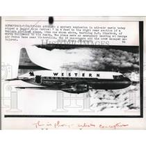1957 Press Photo Artist's rendering of damage to plane resulting in one death.