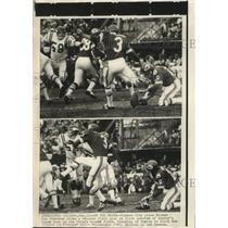 Press Photo Chiefs kicker Jan Stenerud vs Vikings Wally Hilgeberg - lfx00402