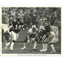 1981 Press Photo Jets Quarterback Todd in action vs Bills - lfx01115