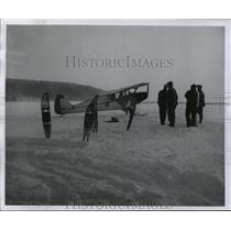 1956 Press Photo Icy Lake Superior near Stockton Island - mja42975