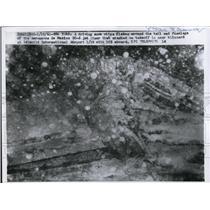 1961 Press Photo Aerosaves de Mexico DC-8 Jet Liner Crashed At Idlewild Airport