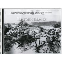 1961 Press Photo Mexican Airliner Wreckage Near Idlewild Airport New York