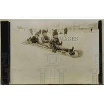 1924 Press Photo Children on Toboggan Sled - nef40228