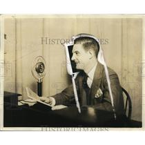 1927 Press Photo Harold True, WTAM Announcer  - nef43466