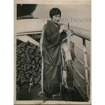 1923 Press Photo Misko Yamaguchi, Japanese hotel Keeper - nef43779