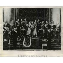 1939 Press Photo King Gustav Speaking at Session Swedish Parliament, Stockholm
