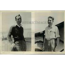 1938 Press Photo Emil Lehecka, Robert Auburn Participate National Soaring Meet