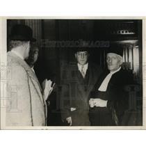 1928 Press Photo M Aubepin President French Bar Assc & Harry Blackner Fugitive