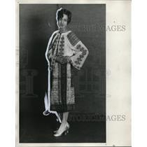 1929 Press Photo Ann M. Radu in Romanian Costume - nef49680
