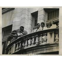 1933 Press Photo Col. Fulgencio Batista stood on the balcony of President Palace