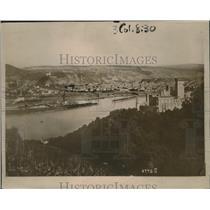 1918 Press Photo City of Coblentz Scene of Many Allied Air Raids  - nef53736