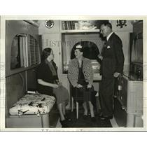 1938 Press Photo Commander Attilio Gatti,Explorer shows his designed trailers