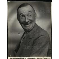 "1926 Press Photo Charlie Murray, Actor in ""Cohens and Kellys in Hollywood"""