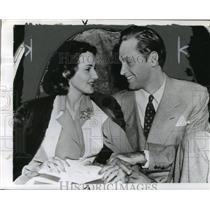 1941 Press Photo Actor William Holden & Wife Brenda Marshall - nef57976
