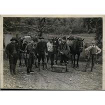 1929 Press Photo Walter Adams & his Appalachian Mts. expedition group
