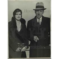 1931 Press Photo Dr & Mrs Armando Toriello of Guatemala arrive in LA - nep02157